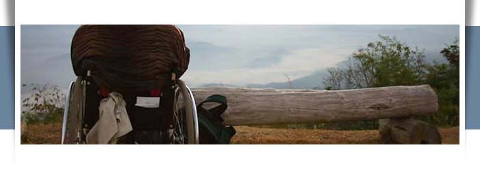 wheelchair user at scenic mountain overlook